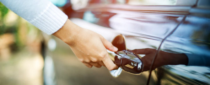 opening the door to a new car